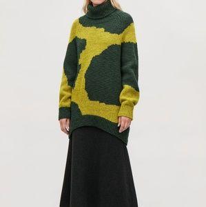 NWT COS + Intarsia Wool Roll-Neck Jumper XS/S